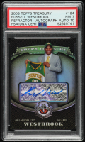 Russell Westbrook 2008-09 Topps Treasury Rookie Autographs Refractor #124 (PSA 7) at PristineAuction.com