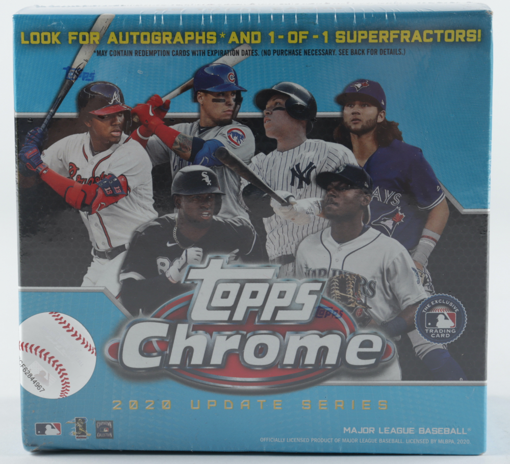 2020 Topps Chrome Update Series Baseball Mega Blue Box with (7) Packs at PristineAuction.com