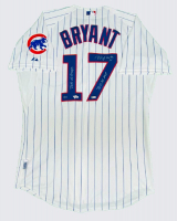"Kris Bryant Signed Cubs Majestic Jersey Inscribed ""2016 WS Champs, ""2016 NL MVP"" & ""Fly The W"" (Fanatics Hologram & MLB Hologram) at PristineAuction.com"