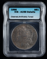 1898 Morgan Silver Dollar (ICG AU58) at PristineAuction.com
