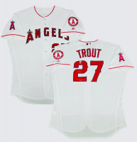 "Mike Trout Signed Angels LE Jersey Inscribed ""14, 16 AL MVP"" (Steiner Hologram) at PristineAuction.com"