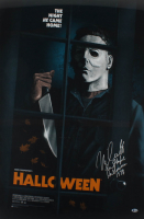 """Nick Castle Signed LE """"Halloween"""" 24x36 Movie Poster Print Inscribed """"The Shape Halloween 1978"""" (Beckett COA) at PristineAuction.com"""