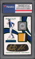 Fernando Tatis Jr. 2019 Immaculate Collection Rookie Matinee Dual Memorabilia Autographs Green #10 (Fanatics Authentic) at PristineAuction.com