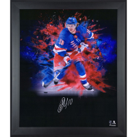 Artemi Panarin Signed Rangers 23x27 Custom Framed Photo Display (Fanatics Hologram) at PristineAuction.com