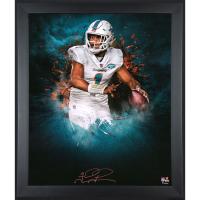 Tua Tagovailoa Signed Dolphins 23.5x27.5 Custom Framed Photo Display (Fanatics Hologram) at PristineAuction.com