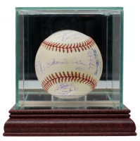 2000 Yankees World Series Baseball Team-Signed by (29) With Joe Torre, Tino Martinez, Roger Clemens, Derek Jeter, Doc Gooden with Display Case (JSA LOA & Steiner Hologram) (See Description) at PristineAuction.com