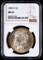 1885-O Morgan Silver Dollar (NGC MS67) (Toned) at PristineAuction.com