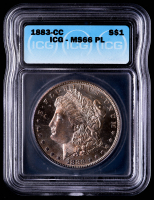 1883-CC Morgan Silver Dollar (ICG MS66 Proof Like) at PristineAuction.com