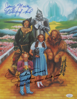 """Mickey Carroll, Jerry Maren & Karl Slover Signed """"The Wizard of Oz"""" 11x14 Photo with Multiple Inscriptions (JSA COA) at PristineAuction.com"""