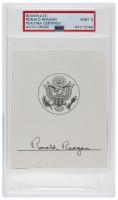 Ronald Reagan Signed Book Plate (PSA Encapsulated) at PristineAuction.com