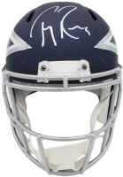 Tony Romo Signed Cowboys Full-Size AMP Alternate Speed Helmet (Beckett COA) at PristineAuction.com