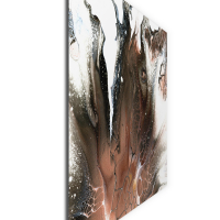 Ashen by Elana Reiter - 36x48 Abstract Wall Art, Modern Home Decor at PristineAuction.com