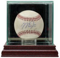 Mike Trout Signed OML Baseball with Display Case (PSA COA & MLB Hologram) (See Description) at PristineAuction.com