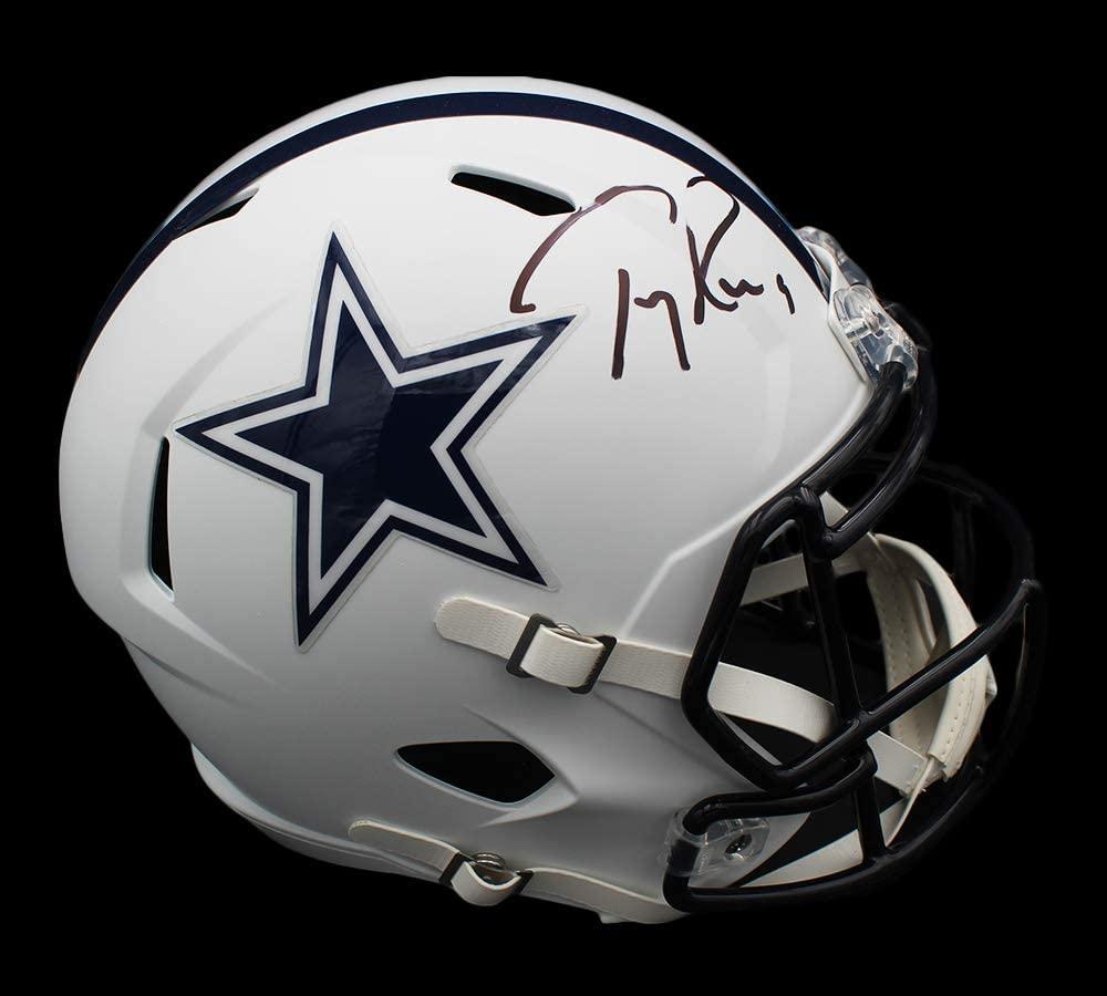 Tony Romo Signed Cowboys Full-Size Matte White Speed Helmet (Beckett Hologram) at PristineAuction.com
