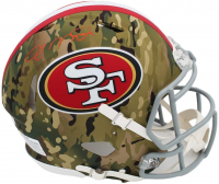 Joe Montana Signed 49ers Full-Size Authentic On-Field Camo Speed Helmet (Radtke COA) at PristineAuction.com