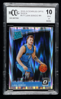 Luka Doncic 2018-19 Donruss Optic Shock #177 RR (BCCG 10) at PristineAuction.com