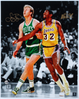 Magic Johnson & Larry Bird Signed 16x20 Photo (Schwartz Sports COA & Bird Hologram) at PristineAuction.com