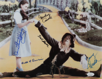 """""""The Wizard of Oz"""" 11x14 Photo Cast-Signed by (5) with Karl Slover, Mickey Carroll, Jerry Maren & Donna Stewart-Hardway with (3) Character Inscriptions (JSA COA) at PristineAuction.com"""