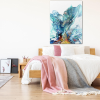 Glacier by Elana Reiter - 36x48 Abstract Wall Art, Modern Home Decor at PristineAuction.com