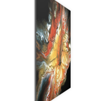Core by Elana Reiter - 36x36 Abstract Wall Art, Modern Home Decor at PristineAuction.com