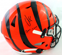 """Chad Johnson Signed Bengals Full-Size Authentic On-Field SpeedFlex Helmet Inscribed """"Ocho Cinco"""" (Beckett COA at PristineAuction.com"""
