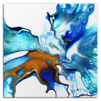 Current by Elana Reiter - 36x36 Abstract Wall Art, Modern Home Decor at PristineAuction.com