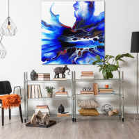 Cavern by Elana Reiter - 48x48 Abstract Wall Art, Modern Home Decor at PristineAuction.com
