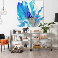 Arctic by Elana Reiter - 48x48 Abstract Wall Art, Modern Home Decor at PristineAuction.com