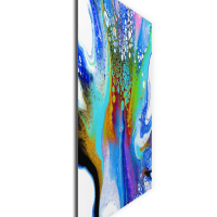 Peacock by Elana Reiter - 24x24 Abstract Wall Art, Modern Home Decor at PristineAuction.com