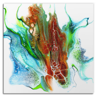 Oxidation by Elana Reiter - 48x48 Abstract Wall Art, Modern Home Decor at PristineAuction.com