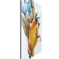 Tributaries by Elana Reiter - 24x24 Abstract Wall Art, Modern Home Decor at PristineAuction.com