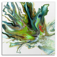 Mossy by Elana Reiter - 36x36 Abstract Wall Art, Modern Home Decor at PristineAuction.com