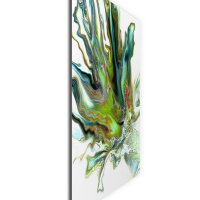 Mossy by Elana Reiter - 24x24 Abstract Wall Art, Modern Home Decor at PristineAuction.com
