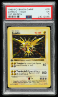 Zapdos 1999 Pokemon Base 1st Edition #16 HOLO (PSA 5) at PristineAuction.com