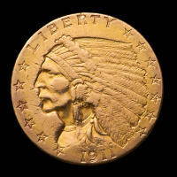 1911 $2.50 Indian Head Quarter Eagle Gold Coin at PristineAuction.com
