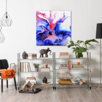 Thermal by Elana Reiter - 36x36 Abstract Wall Art, Modern Home Decor at PristineAuction.com