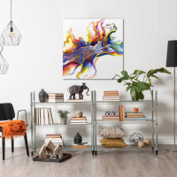 Medley by Elana Reiter - 36x36 Abstract Wall Art, Modern Home Decor at PristineAuction.com