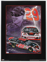 Kevin Harvick Signed NASCAR #29 18x24 Sam Bass Print (PA COA) (See Description) at PristineAuction.com