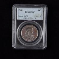 1960 Franklin Silver Half Dollar (PCGS PR67) at PristineAuction.com