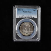 1960-D Franklin Silver Half Dollar (PCGS MS64) at PristineAuction.com