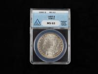 1885 Morgan Silver Dollar, VAM-3 (ANACS MS63) (Toned) at PristineAuction.com