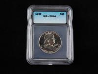 1959 Franklin Silver Half Dollar (ICG PR66) at PristineAuction.com