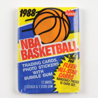 1988 Fleer Basketball Unopened Wax Pack with (12) Cards at PristineAuction.com
