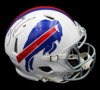 Tremaine Edmunds Signed Bills Full-Size Authentic On-Field Speed Helmet (Beckett COA) at PristineAuction.com