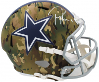 Tony Romo Signed Cowboys Full-Size Camo Alternate Speed Helmet (Beckett COA) at PristineAuction.com
