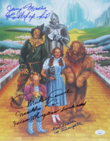 "Mickey Carroll, Jerry Maren, & Karl Slover Signed ""The Wizard of Oz"" 11x14 Photo with Multiple Inscriptions (JSA COA) at PristineAuction.com"