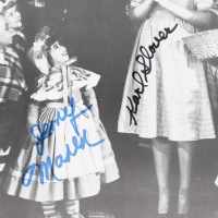 """""""The Wizard of Oz"""" 11.5x14.5 Photo Signed by (4) with Mickey Carroll, Jerry Maren, Karl Slover, & Donna Stewart-Hardway (JSA COA) at PristineAuction.com"""