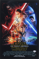 """J.J. Abrams & Daisy Ridley Signed """"Star Wars: The Force Awakens"""" 12x18 Photo (PSA LOA) at PristineAuction.com"""