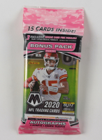 2020 Panini Mosaic Football Cello Pack with (15) Cards at PristineAuction.com