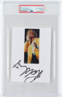 Rod Stewart Signed 4x6 Index Card with Inscription (PSA Encapsulated) at PristineAuction.com